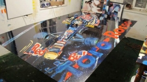 toro rosso giant painting